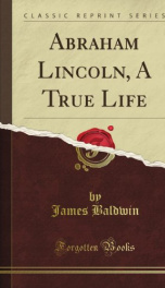abraham lincoln a true life_cover