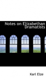 notes on elizabethan dramatists_cover