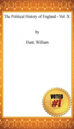 The Political History of England - Vol. X._cover
