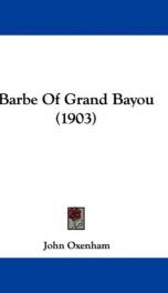 barbe of grand bayou_cover
