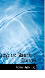 essays and sketches of character_cover