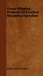 ocean shipping elements of practical steamship operation_cover