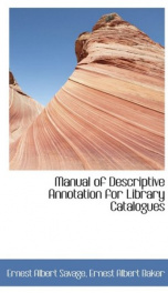 manual of descriptive annotation for library catalogues_cover