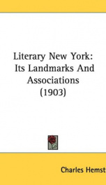 literary new york its landmarks and associations_cover