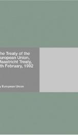 The Treaty of the European Union, Maastricht Treaty, 7th February, 1992_cover
