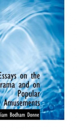 essays on the drama and on popular amusements_cover