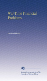War-Time Financial Problems_cover