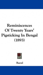 reminiscences of twenty years pigsticking in bengal_cover