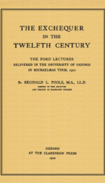 the exchequer in the twelfth century_cover