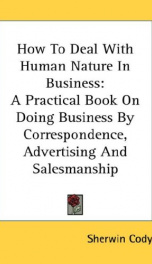 how to deal with human nature in business a practical book on doing business by_cover