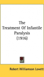 the treatment of infantile paralysis_cover