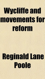 wycliffe and movements for reform_cover