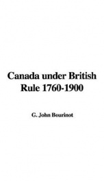 Canada under British Rule 1760-1900_cover