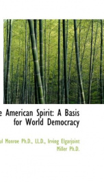 the american spirit a basis for world democracy_cover