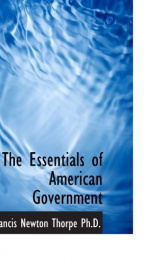 the essentials of american government_cover