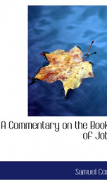 a commentary on the book of job_cover