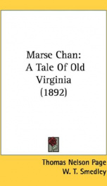 marse chan a tale of old virginia_cover