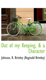 out of my keeping a character_cover