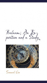 balaam an exposition and a study_cover