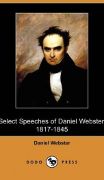 Select Speeches of Daniel Webster, 1817-1845_cover