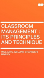 classroom management its principles and technique_cover