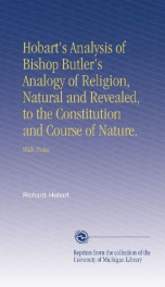 hobarts analysis of bishop butlers analogy of religion natural and revealed_cover
