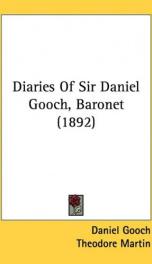 diaries of sir daniel gooch baronet_cover