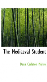 the mediaeval student_cover