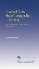 practical notes made during a tour in canada and a portion of the united states_cover