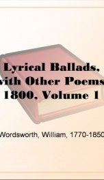 Lyrical Ballads, with Other Poems, 1800, Volume 1_cover