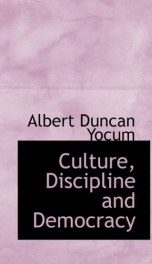 culture discipline and democracy_cover