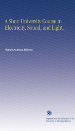 a short university course in electricity sound and light_cover