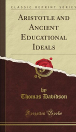aristotle and ancient educational ideals_cover