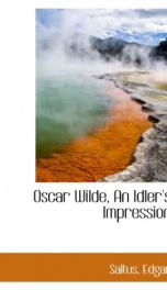 oscar wilde an idlers impression_cover