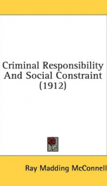 criminal responsibility and social constraint_cover