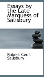 essays by the late marquess of salisbury_cover