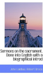 sermons on the sacrament done into english with a biographical introd_cover