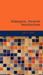 Shakspere, Personal Recollections_cover