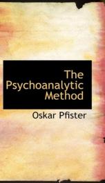 the psychoanalytic method_cover
