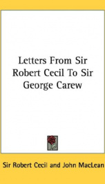 letters from sir robert cecil to sir george carew_cover