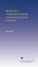 hermes or a philosophical inquiry concerning universal grammar_cover