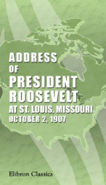 address of president roosevelt at st louis_cover