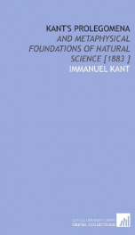 kants prolegomena and metaphysical foundations of natural science_cover