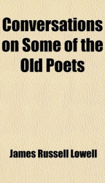 conversations on some of the old poets_cover