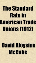 the standard rate in american trade unions_cover