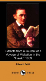 "Extracts from a Journal of a Voyage of Visitation in the ""Hawk,"" 1859_cover"
