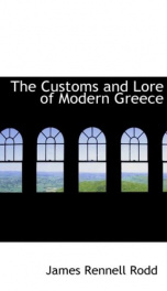 the customs and lore of modern greece_cover