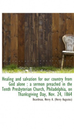 healing and salvation for our country from god alone a sermon preached in the_cover