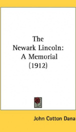 the newark lincoln a memorial_cover