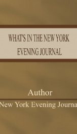 What's in the New York Evening Journal_cover